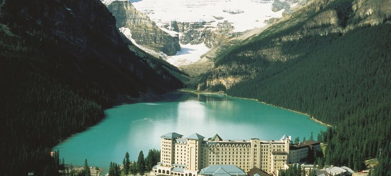 Aerial View of Fairmont Chateau Lake Louise