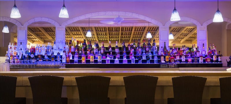 The bar at Taboras at Fairmont Royal Pavilion