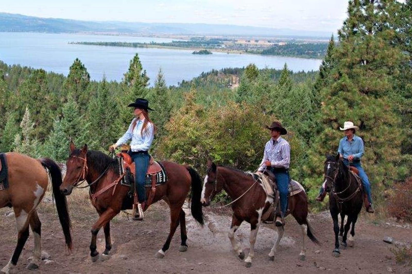 Horse Riding in The Hills at Flathead Lake Lodge, Montana