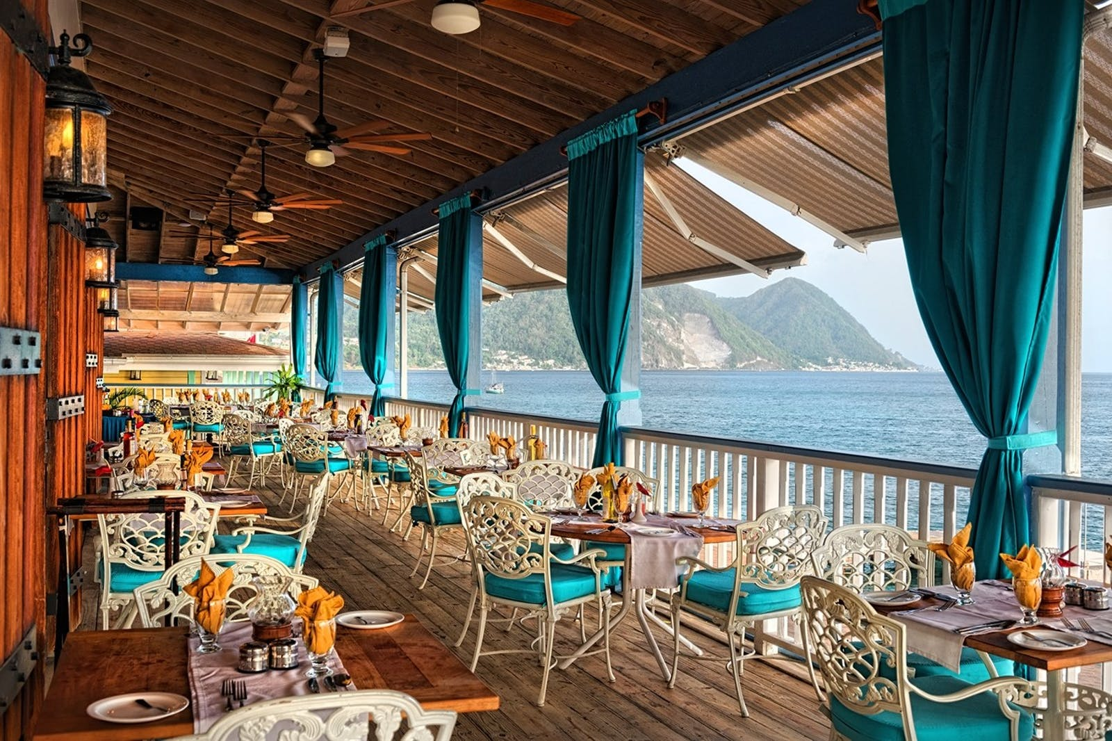 Palisades Restaurant at Fort Young, Dominica