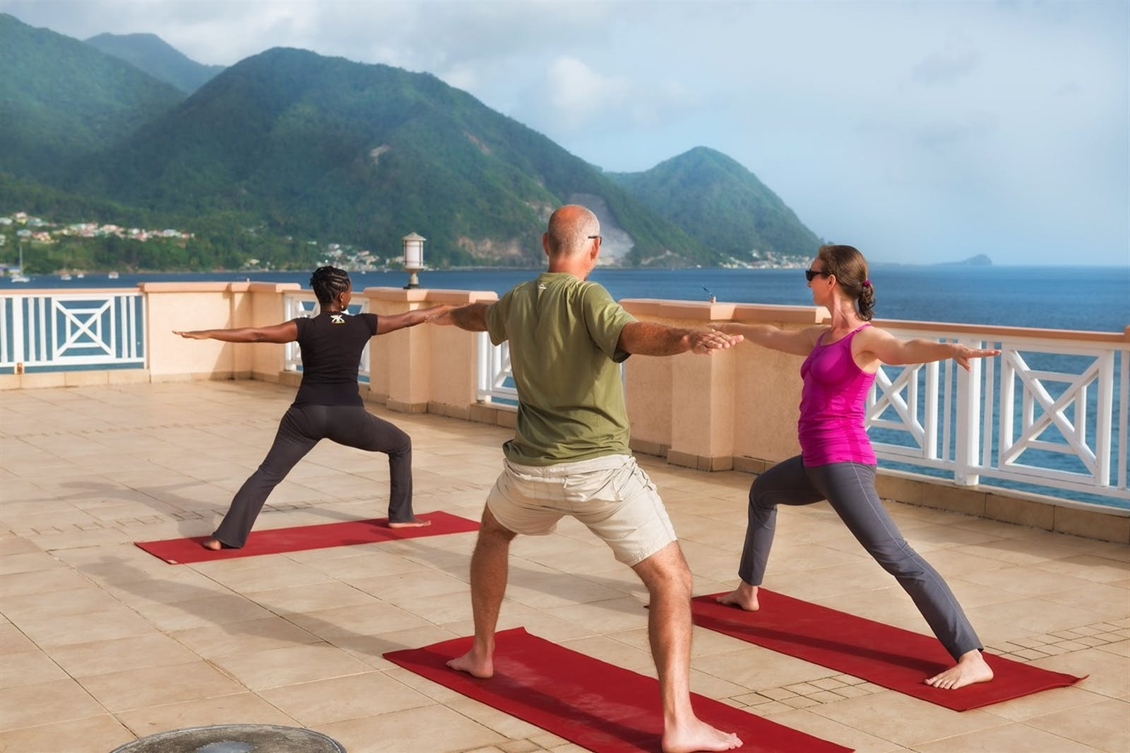 Yoga on the Sky Terrace at Fort Young, Dominica