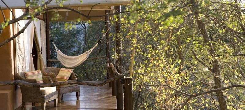 Tent Deck And Hammock