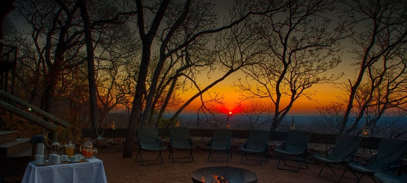 Campfire dining at Ghoha Hills