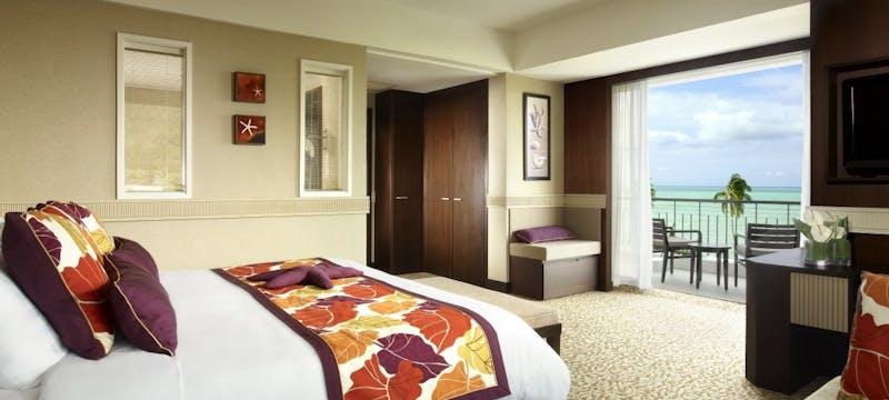 Executive Seaview Suite Bedroom at Golden Sands Resort by Shangri-La