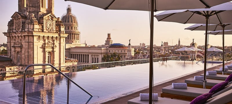 Rooftop Pool at Gran Hotel Manzana Kempinski