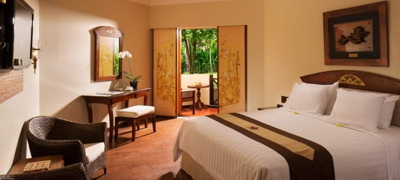 Deluxe garden room at Grand Mirage Resort and Thalasso Bali