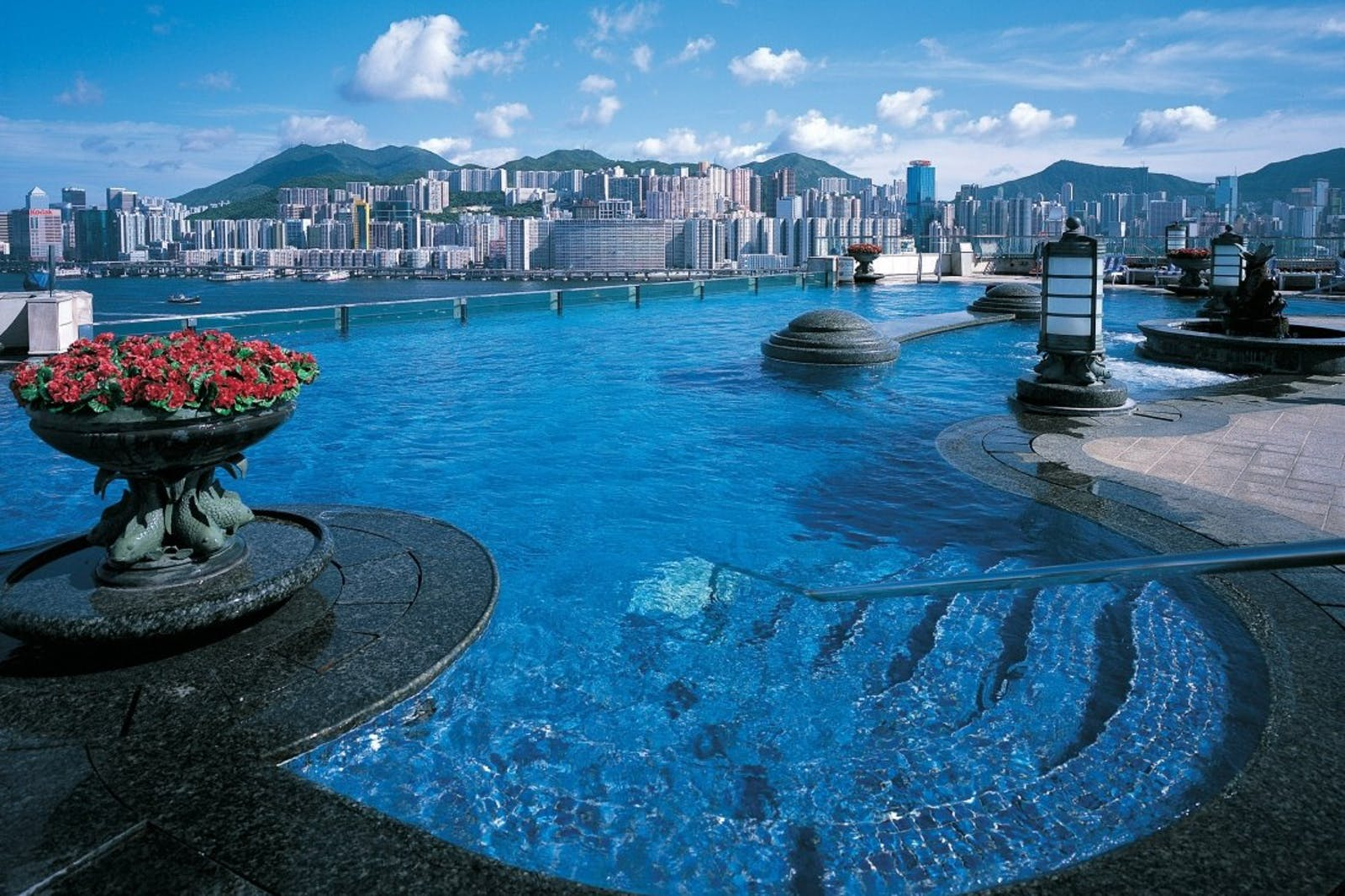 Pool area at Harbour Grand Kowloon