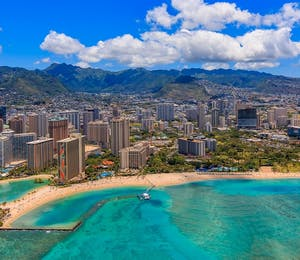 Aerial View Of Waikiki Beach, Honolulu, Oahu