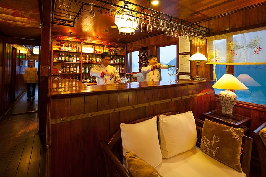Ginger Bar Lounge Heritage Line Halong Bay Cruises