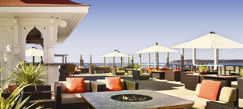 Terrace bar at Hotel del Coronado