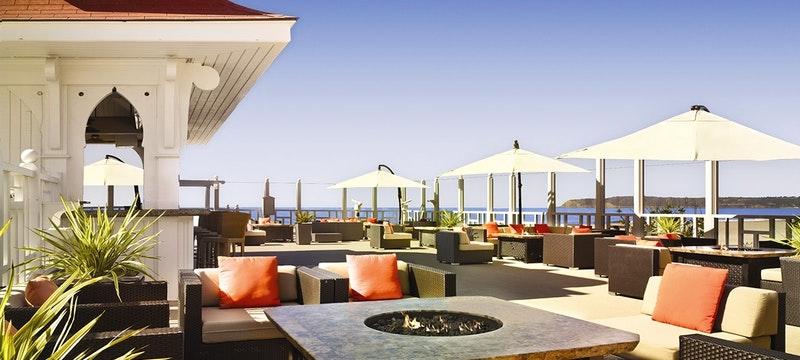 Terrace bar at Hotel del Coronado