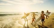 Kid Surfers On Coronado Beach