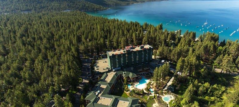 Aerial View of Hyatt Regency Lake Tahoe Resort, Casino & Spa