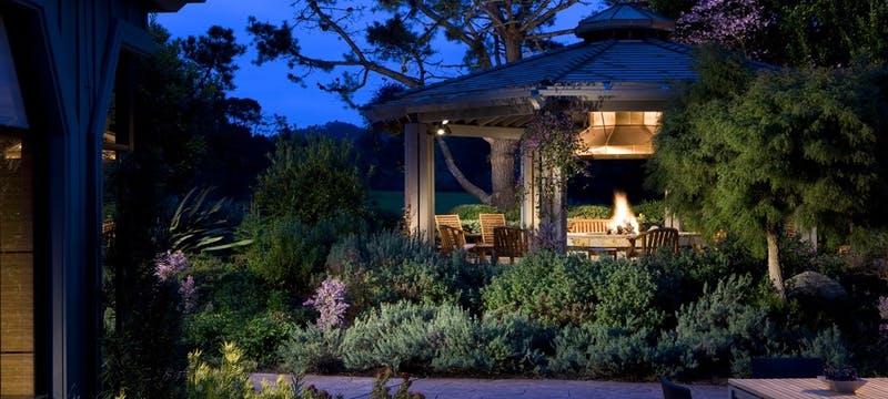 Outdoor terrace area at Hyatt Regency Monterey Hotel & Spa