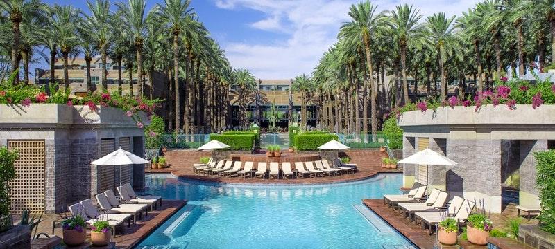 Stunning pool area at Hyatt Regency Scottsdale Resort & Spa at Gainey Ranch