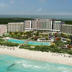 Artists Impression resort overview of Iberostar Bella Vista