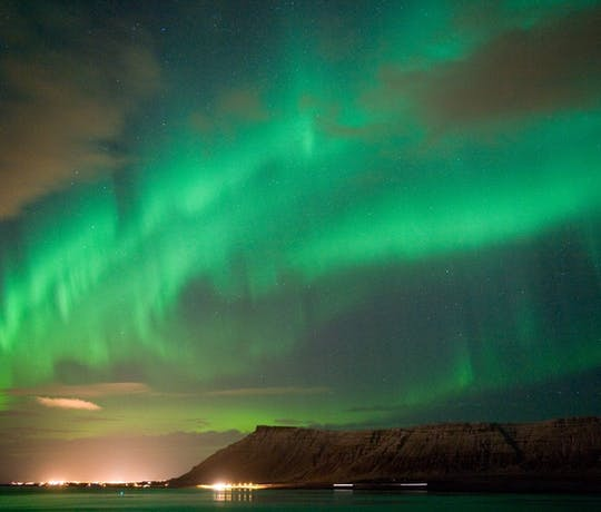The Northern Lights North of Reykjavik, Iceland
