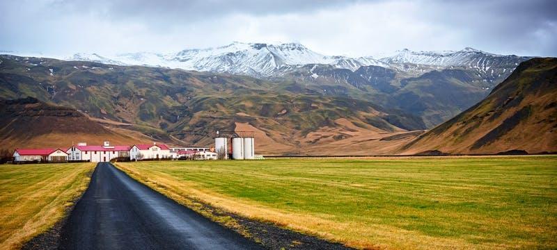 The Eyjafjallajokull volcano in South Iceland