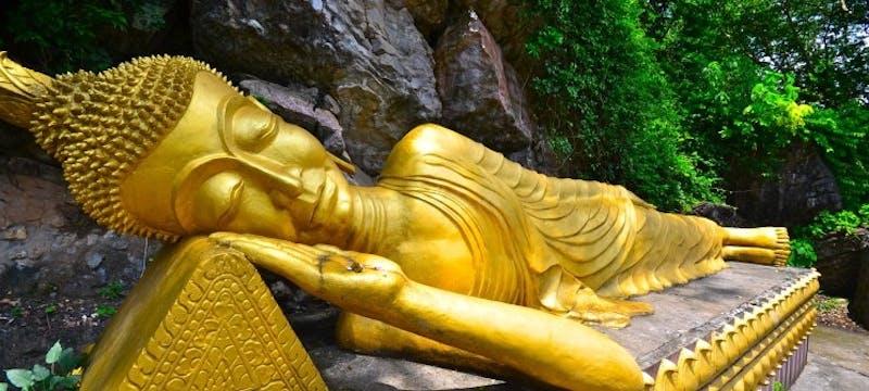 Sleeping Buddha Mount Phousi