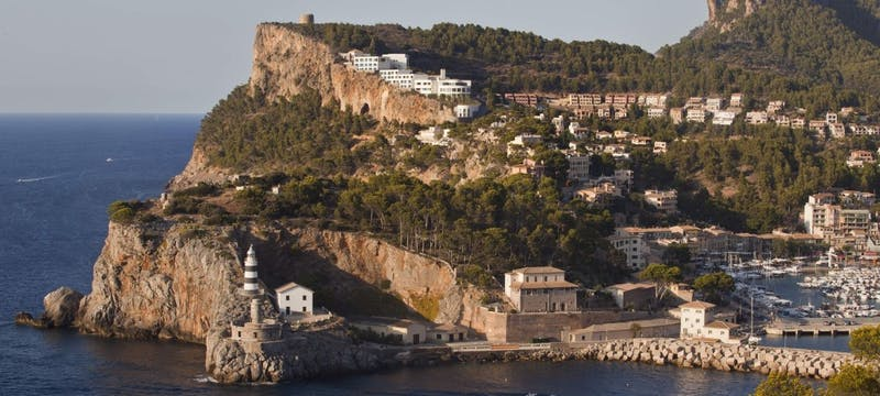 Clifftop Setting and Port Soller Below