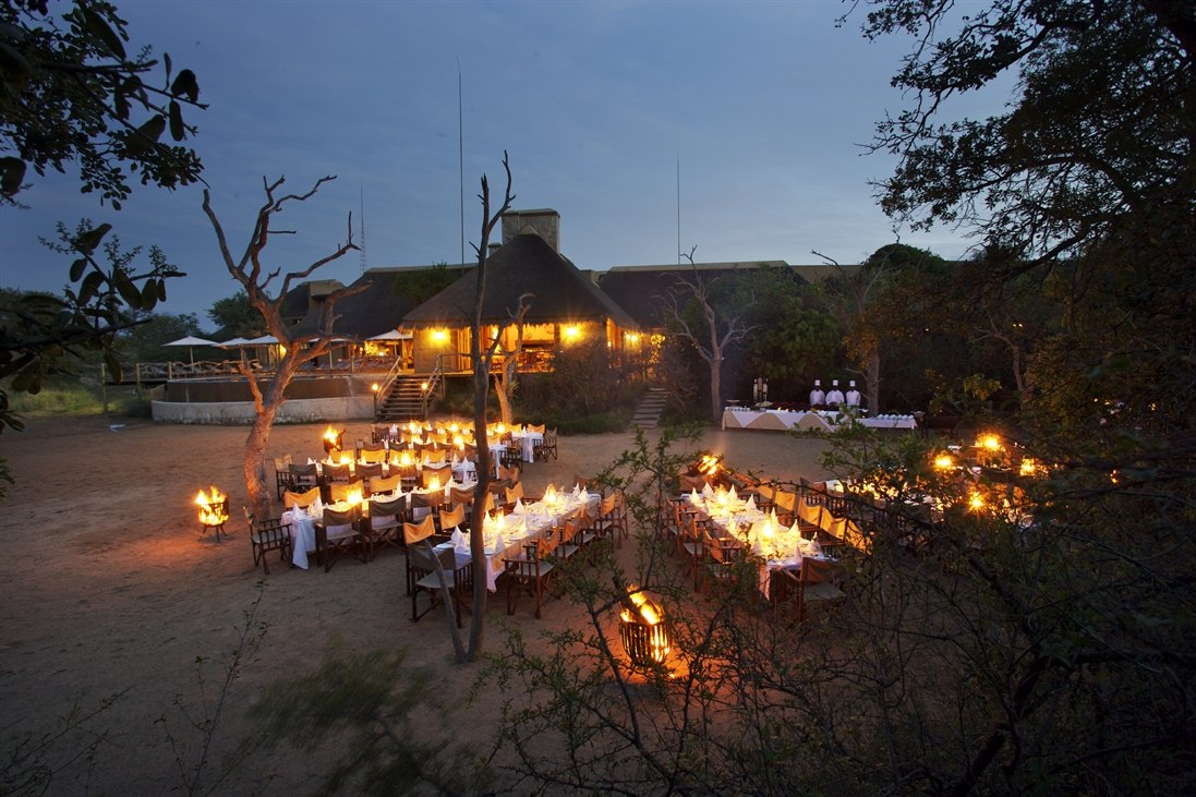 River Bed Dinner  at Kapama River Lodge, South Africa