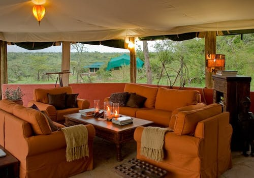 Lounge area at Kicheche Valley Camp