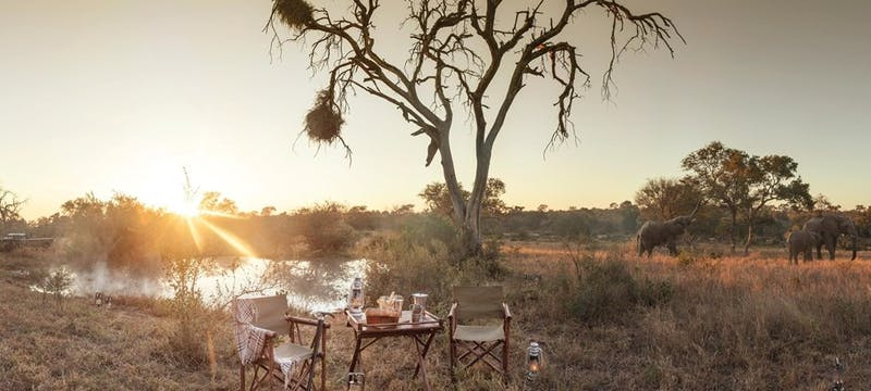 Dinner  at Kings Camp Private Game Reserve, South Africa