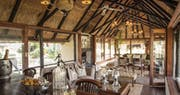 Lounge interior at Kings Camp Private Game Reserve, South Africa