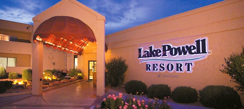 Entrance to Lake Powell Resort & Marina