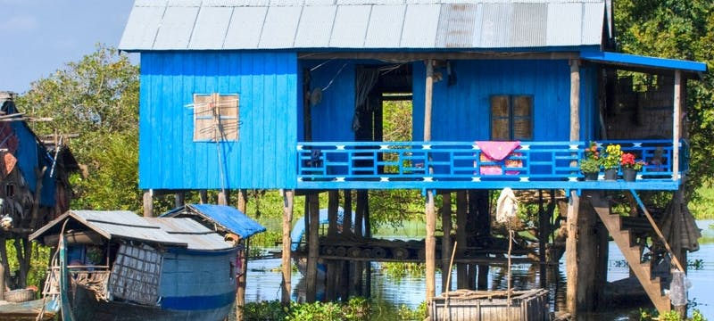 House on stilts, Tonle Sap