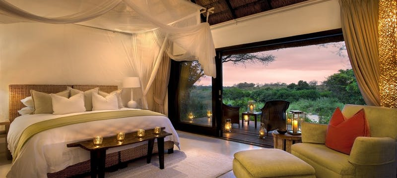 Luxury Bedroom at Lion Sands River Lodge, South Africa