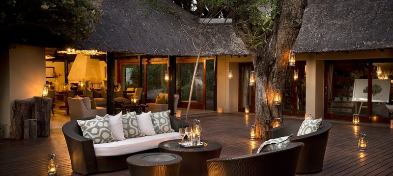 Lounge at Lion Sands River Lodge, South Africa