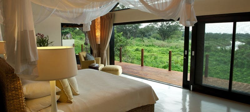 Luxury Suite Bedroom at Lion Sands River Lodge, South Africa
