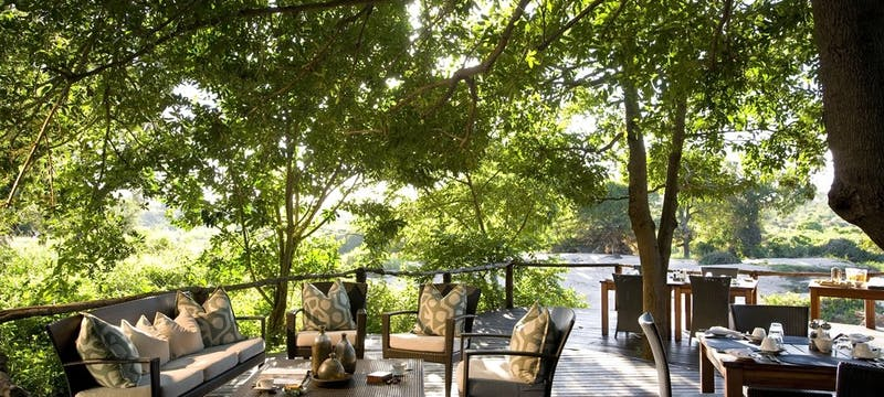 Outdoor Deck at Lion Sands River Lodge, South Africa