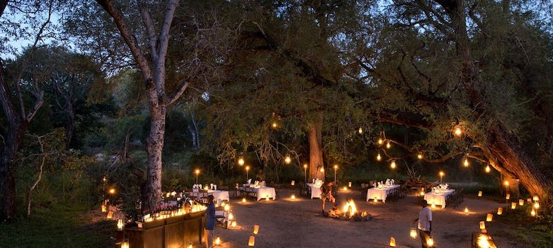 Bush Dinner at Lion Sands River Lodge, South Africa