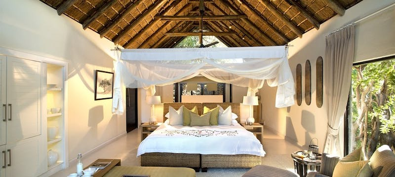 Superior Luxury Suite Bedroom at Lion Sands River Lodge, South Africa
