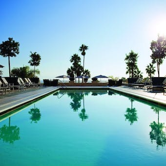 Pool area at Loews Santa Monica Beach Hotel
