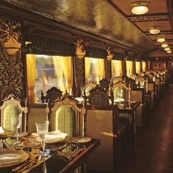 Interior of Maharaja Express train