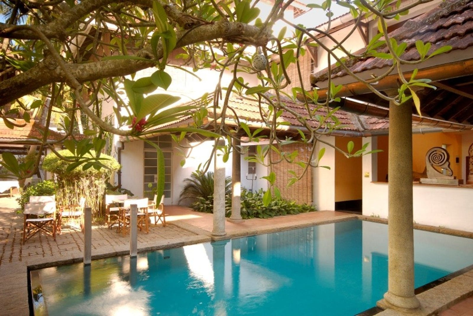 Malabar House pool and outside area