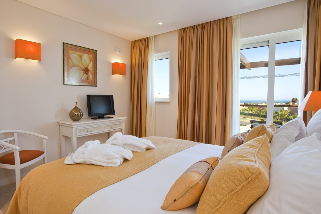 Bedroom with view at Monte Santo, Algarve