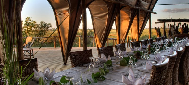 Dining Area at Okuti Camp