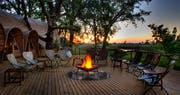 Campfire at Okuti Camp