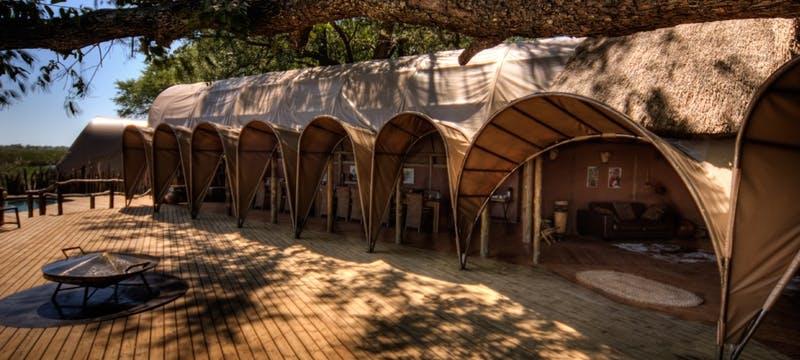 Lounge area at Okuti Camp