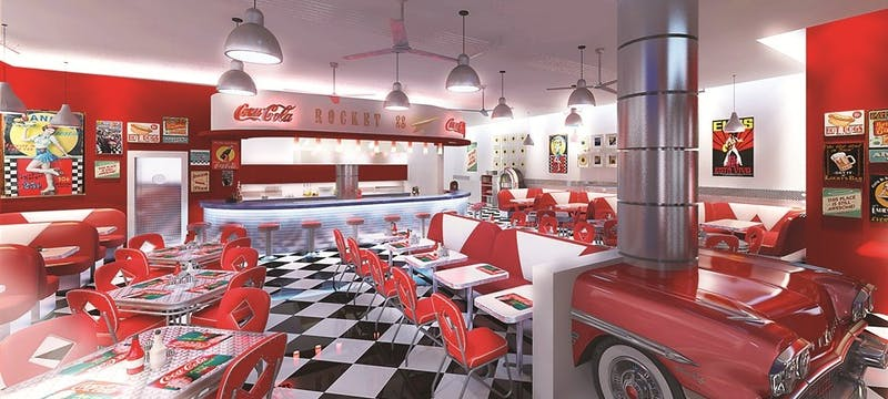 Olympic Lagoon Resort Paphos Rock 'n' Roll Diner