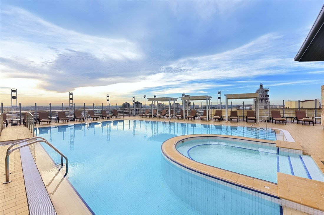 Rooftop Pool at Iberostar Parque Central