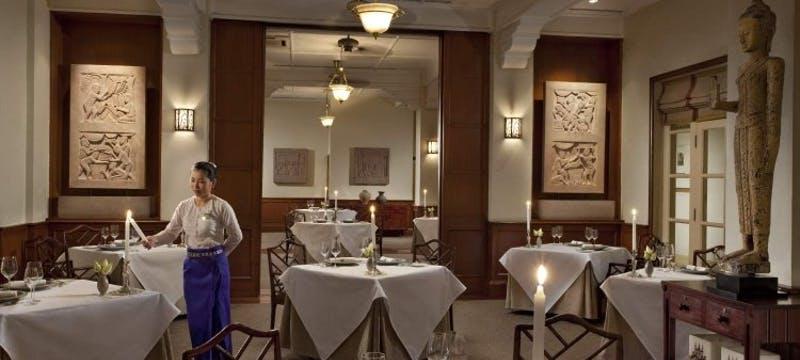 Le Grand restaurant at Raffles Grand Hotel d'Angkor, Cambodia