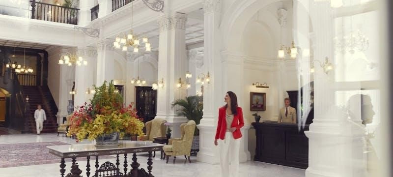 Lobby  at Raffles, Singapore