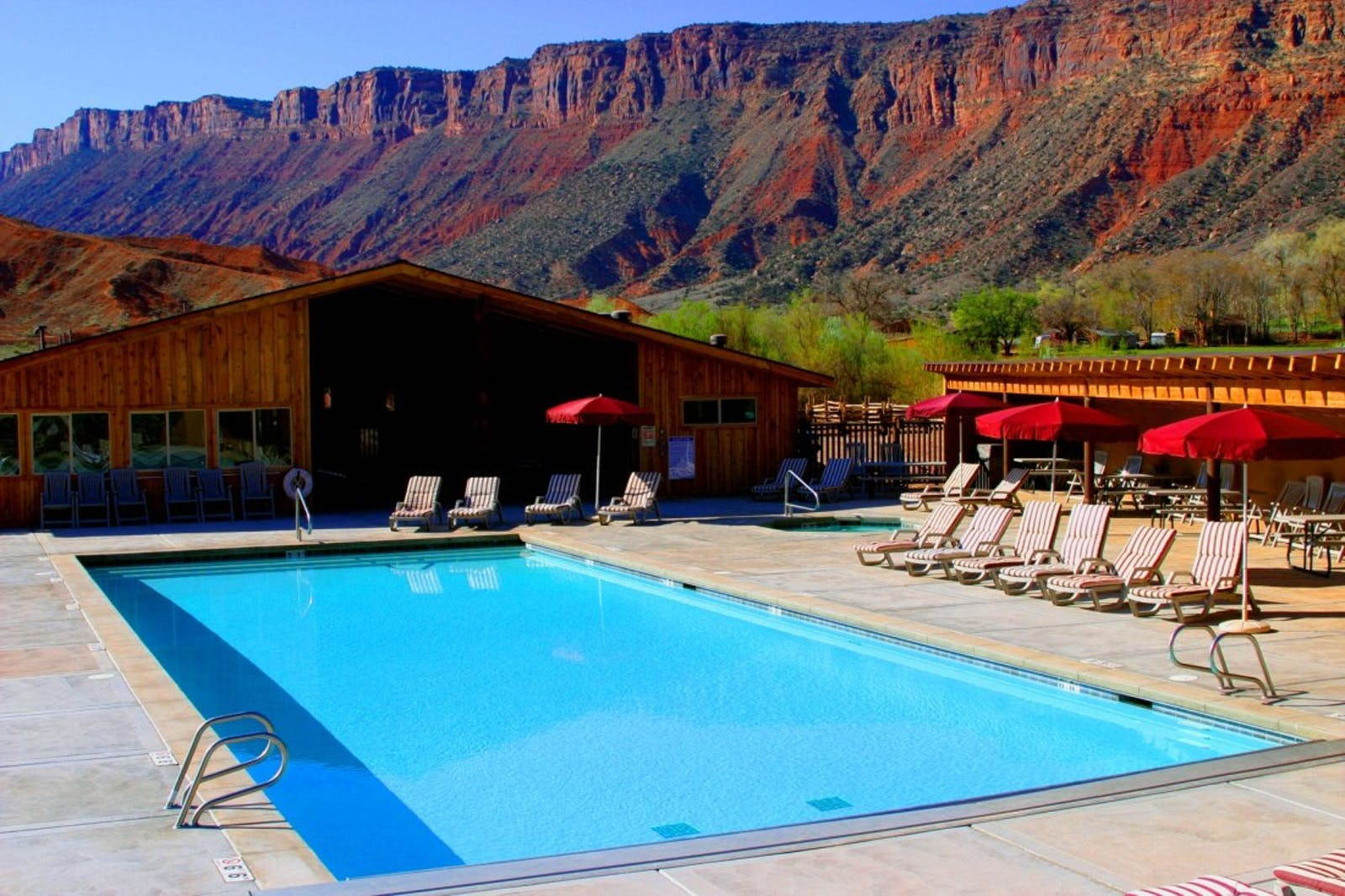 Swimming Pool at Red Cliffs Lodge, Utah