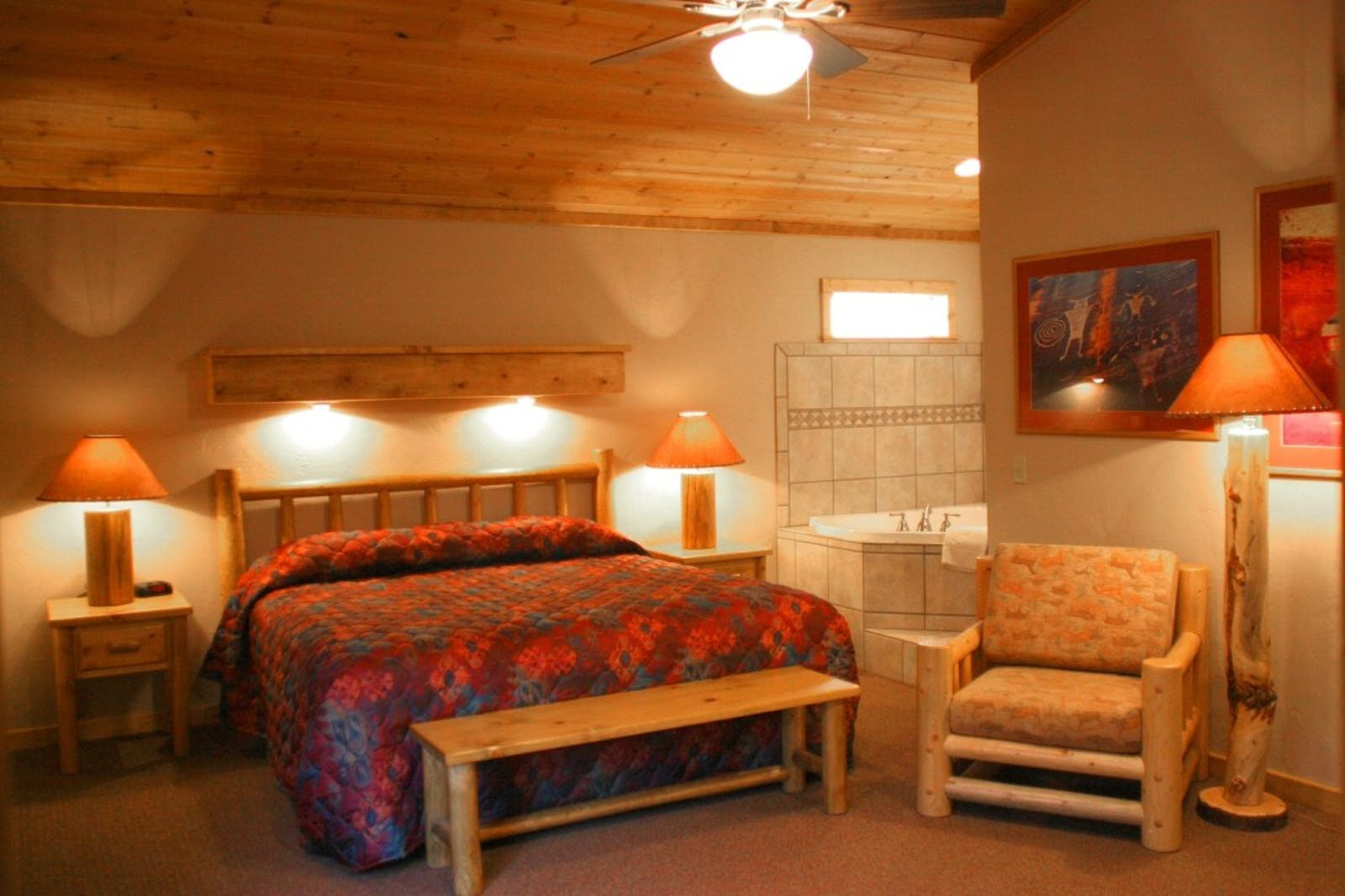 Bedroom at Red Cliffs Lodge, Utah