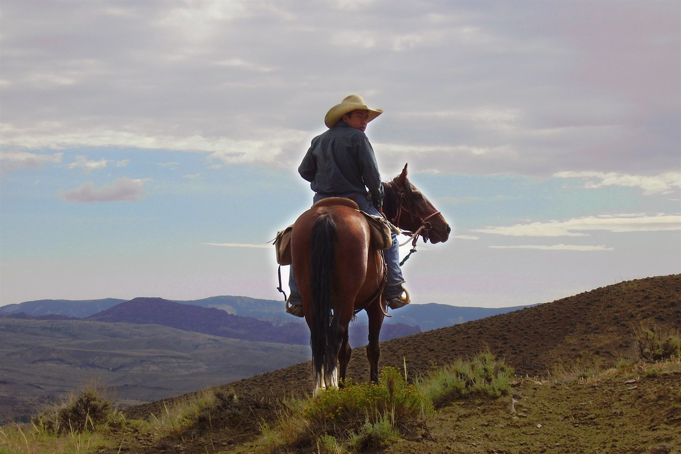 Horse Riding at Rimrock Ranch, Wyoming